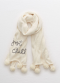 [Aerie] Embroidered pom scarf