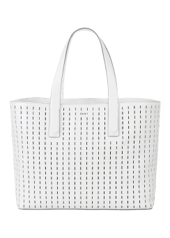 Perforated calf nappa leather