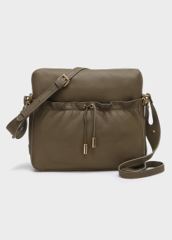 RUCHING DRAWSTRING GROUP - GOAT LEATHER