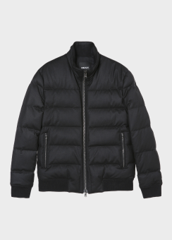 FUNNEL NECK WOOL DOWN BOMBER