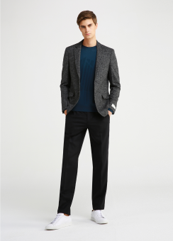 BOUCLE HERRINGBONE WOOL JACKET
