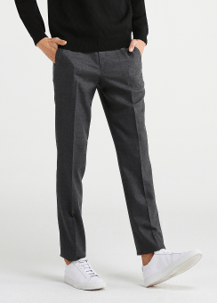 FLANNEL WOOL STRETCH PANTS
