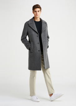 HALF-DOUBLE OVERSIZED WOOL COAT