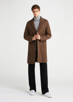 LIGHT WEIGHT 3BTN WOOL COAT