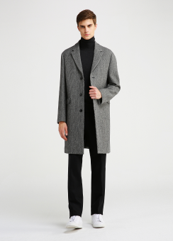 DOUBLE FACE PATTERN WOOL COAT