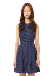 Stripe zip detail dress