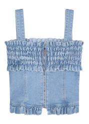Smocking denim top