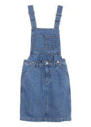 Detachble overall denim dress