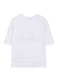 Frill jersey tee