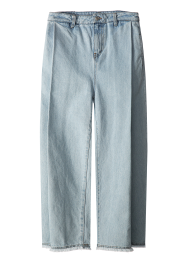 Pleats denim trouser pants