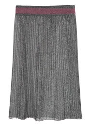 Metalic knit long skirt