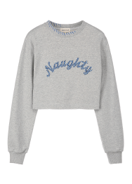 Naughty crop sweatshirts