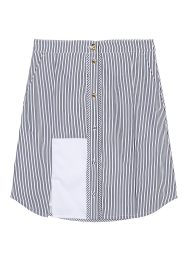 Stripe front button skirt
