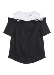 Frill cut off blouse