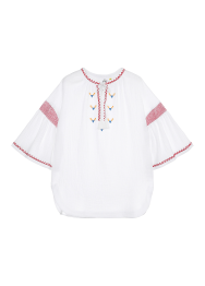 Smocking shirring blouse