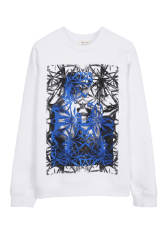 Wood leaf printed sweat shirt