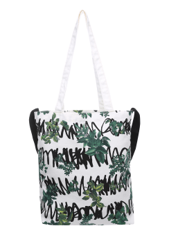 [unisex] Stripe leaf 2way bag