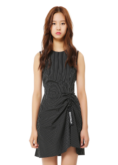 Stripe strap detail dress