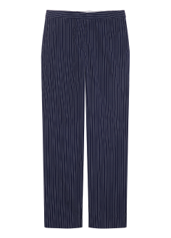 Stripe straight trouser pants