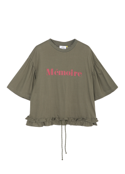 Wide sleeves frill tee