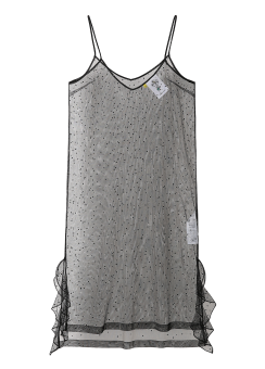 Mesh spangle slip dress