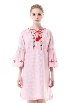 Smocking shirring dress