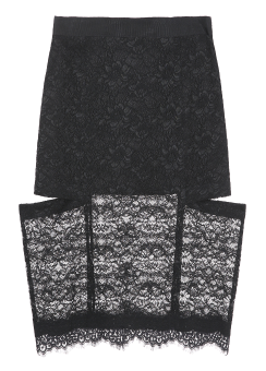 Lace side cut skirt