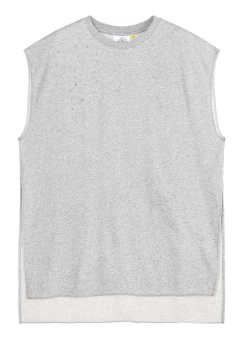 String detailed sleeveless tee