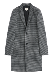 [Men] Houndstooth wool coat