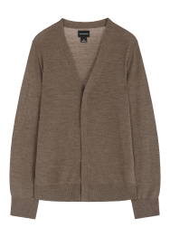 [Men] Merino side button cardigan