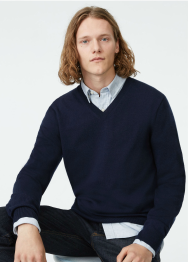 [Men] Merino v neck