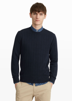 [Men] Rib stitch sweater