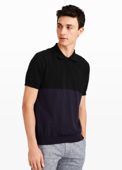 [Men] Colorblock polo