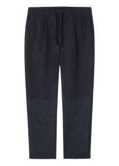 [Men] Stripe tapered drawstring pants
