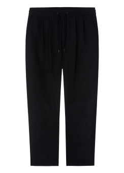 [Men] Solid tapered drawstring pants