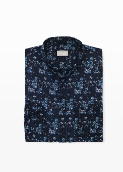 [Men] Slim BD Painted floral
