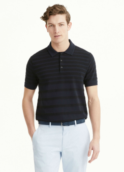 [Men] Links stripe polo