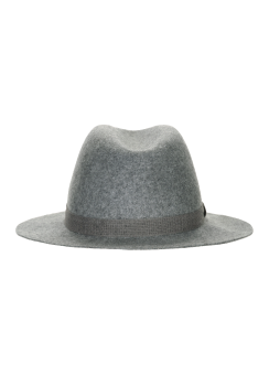 [Men] Melange band fedora