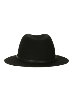 [Men] Leather band fedora