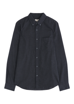 [Men] Flannel solid shirt