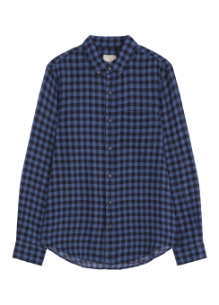 [Men] Crinkle buffalo shirt
