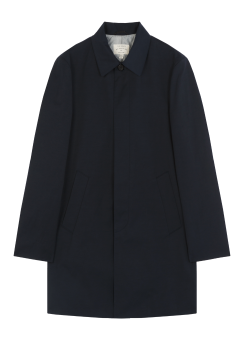 [Men] Cotton like poly mac trench