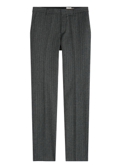 [Men] Herringbone flannel pants
