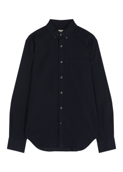 [Men] Crepe solid shirt