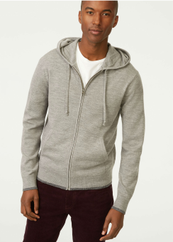 [Men] Merino full zip hood