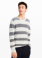 [Men] Marled stripe crew
