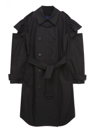 Ruffle cut trench coat