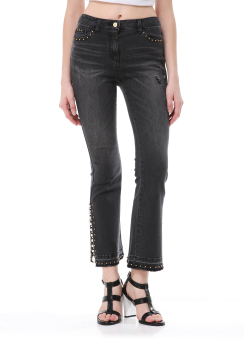 Stud beads detail jeans