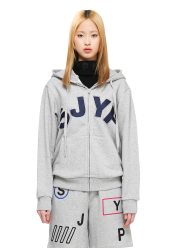 Sjyp logo zip up jumper