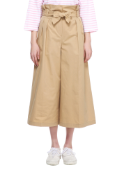 Belted wide trouser pants